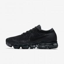 Nike Air VaporMax Flyknit Running Shoes Womens Black/Dark Grey/Dark Grey WC9339VN