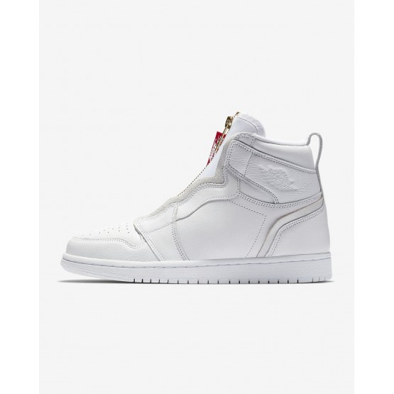 Air Jordan 1 High Zip Lifestyle Shoes Womens White/Red/White WJ4042RO