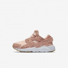 Nike Huarache Lifestyle Shoes Girls Coral/Light Brown/White/Pink WR2403YL