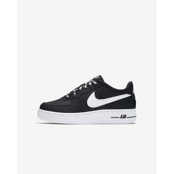 Nike Air Force 1 Lifestyle Shoes Boys Black/White WR3134ET