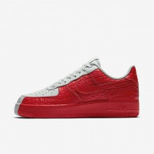Nike Air Force 1 Lifestyle Shoes Mens Grey/Red WY1513XY