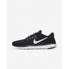 Nike Flex 2017 RN Running Shoes Womens Black/Dark Grey/White XI2985PL