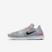 Nike Free RN Flyknit Running Shoes Boys Grey/Platinum/Grey/Black YO9869ML