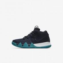 Nike Kyrie 4 Basketball Shoes Girls Dark Obsidian/Black YS7763RL
