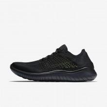Nike Free RN Flyknit Running Shoes Mens Black/Dark Grey ZA1605BH