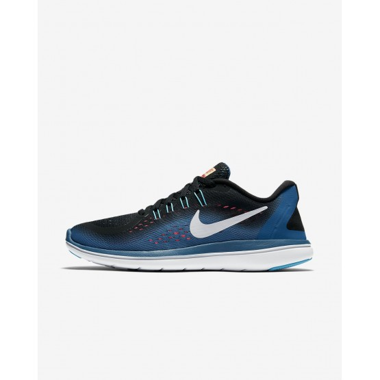 Nike Flex 2017 RN Running Shoes Womens Black/Blue/Pink/White ZC1137NX
