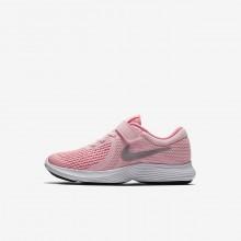 Nike Revolution 4 Running Shoes Girls Orange/White/Metallic Silver ZC3035KQ