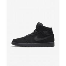 Air Jordan 1 Mid Lifestyle Shoes Mens Black/White ZD9604RK