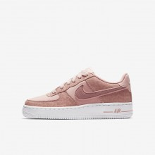 Nike Air Force 1 Lifestyle Shoes Girls Coral/White/Pink ZE6647MU
