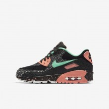 Nike Air Max 90 Lifestyle Shoes Boys Black/Red/Grey/Green ZF1615VL