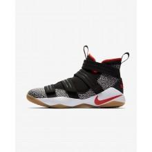 Nike LeBron Soldier XI Basketball Shoes Womens Black/White/Grey/Orange ZK7286AC