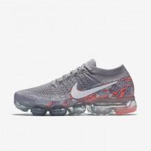 Nike Air VaporMax Flyknit Running Shoes Womens Grey/White ZQ2658SM