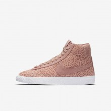Nike Blazer Mid Lifestyle Shoes Girls Coral/Light Brown/White/Pink ZX8425PD